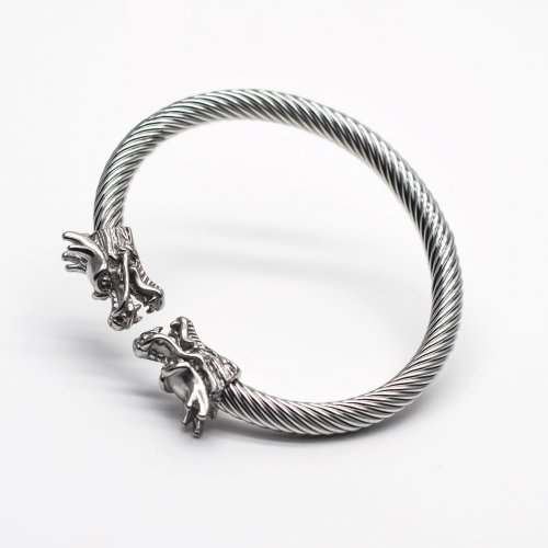 Silver Dragon Bangle