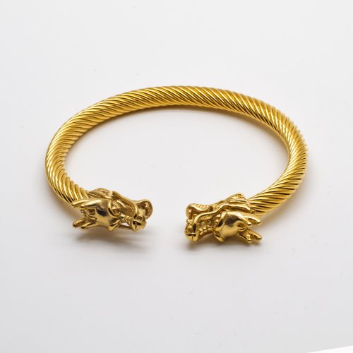 Gold Dragon Bangle