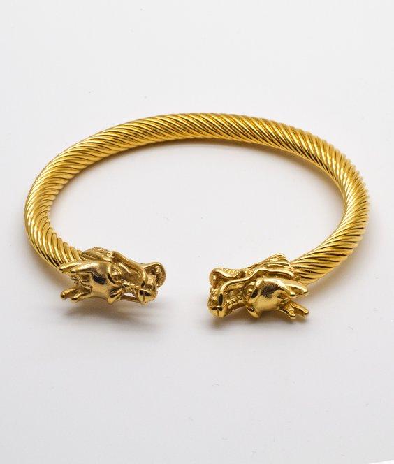 Gold Dragon Bangle